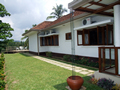 One of the many garden areas at Serene villa, Ratnapura