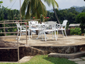 Outside sittting area on top of a rock at Serene Villa, Ratnapura